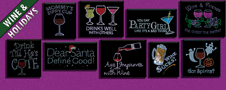 rhinestone wine designs