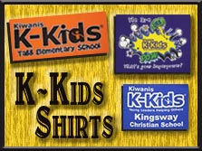 Kiwanis K-Kids shirts
