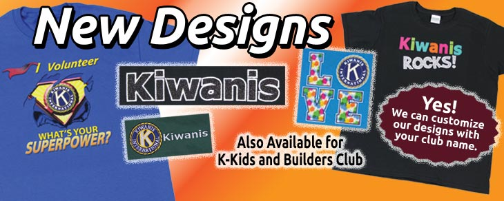 new Kiwanis shirt designs