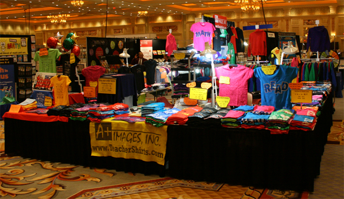 A+ images' booth at the national SDE shows in Las Vegas