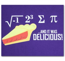 I ate some pi and it was delicious!