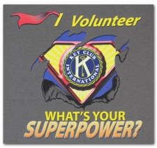 I Volunteer What's Your Superpower? Key Club