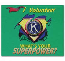 I Volunteer What's Your Superpower? K-Kids