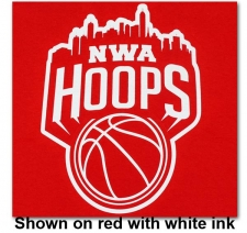 NWA Hoops One Color Logo