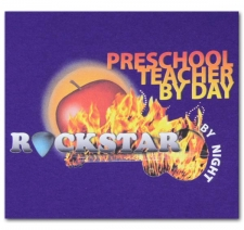 Preschool Teacher by Day Rockstar by Night