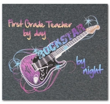 First Grade Teacher by Day Rockstar by Night