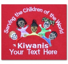 Serving the Children of the World Kiwanis (with custom text)