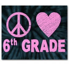 Peace Love 6th Grade