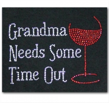 Grandma Needs Some Time Out with wine glass