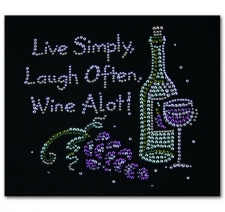 Live Simply Laugh Often Wine A lot