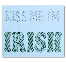 Kiss Me I'm Irish Rhinestone T-Shirt
