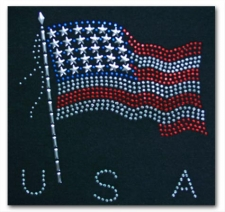 USA Flag Rhinestone T-Shirt