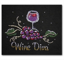 Wine Diva with Grapes