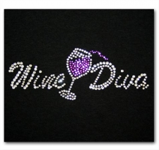 Wine Diva with Spilling Wine Glass