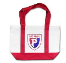 Plainfield Shield Totebag-Red/Blue Glitter Vinyl