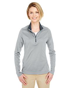UltraClub Ladies' Cool and Dry Sport Quarter-Zip Pullover